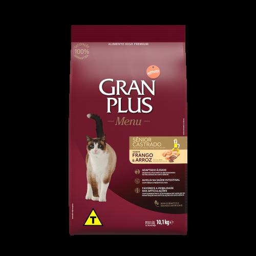 00317 Gran Plus Menu Gato Sênior Castrado 10,1kg FRENTE