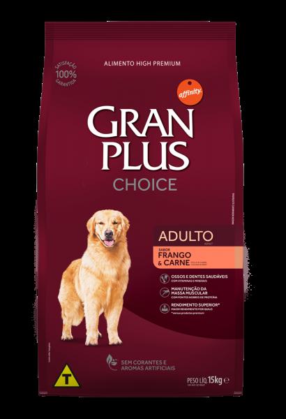 GP Choice Cão Adulto Sabor Frango e Carne 15kg FRONTAL