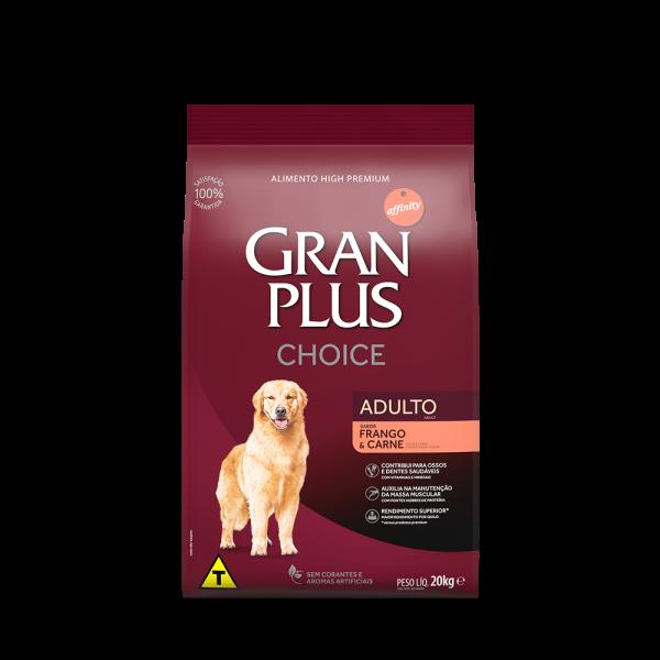 GP Choice Cão Adulto Sabor Frango e Carne 20kg FRONTAL