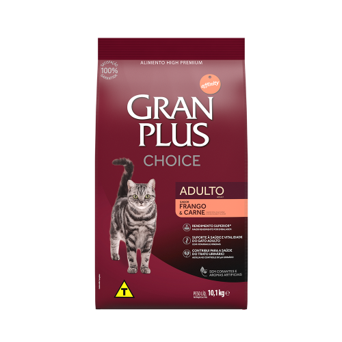 GP Choice Gato Adulto Sabor Frango e Carne 10,1kg FRONTAL