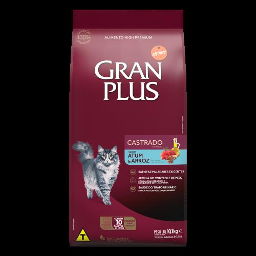 GP Gato Adulto Castrado Sabor Atum e Arroz 10x1,01kg FRONTAL