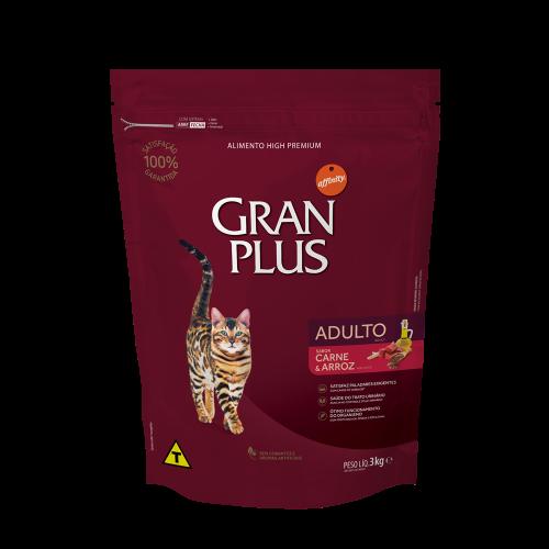 GP Gato Adulto Sabor Carne e Arroz 3kg FRONTAL