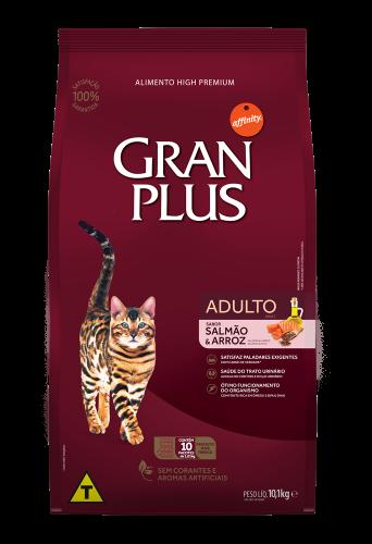 GP Gato Adulto Sabor Salmão e Arroz 10x1,01kg FRONTAL