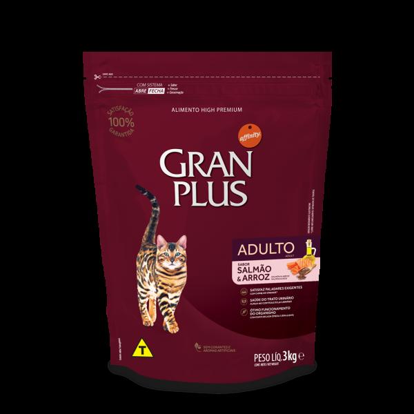 GP Gato Adulto Sabor Salmão e Arroz 3kg FRONTAL