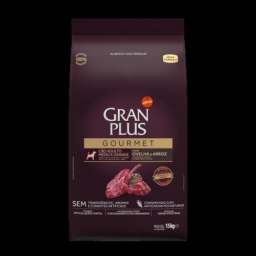 GP Gourmet Cão Adulto Médio e Grande Ovelha e Arroz 15kg FRONTAL