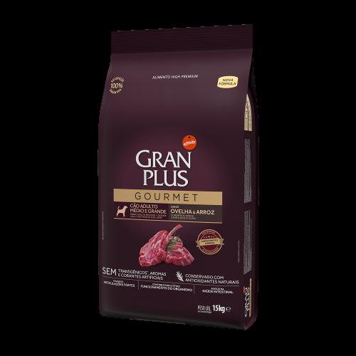 GP Gourmet Cão Adulto Médio e Grande Ovelha e Arroz 15kg LATERAL