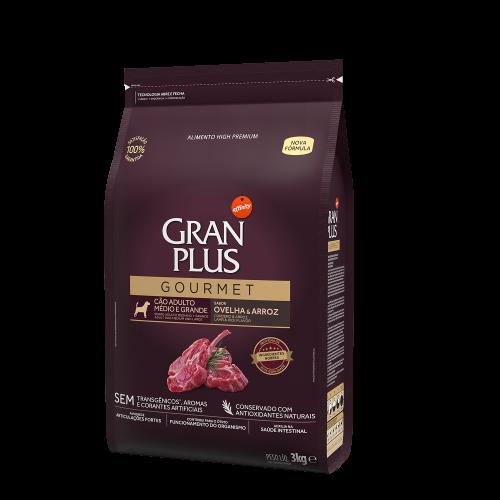 GP Gourmet Cão Adulto Médio e Grande Ovelha e Arroz 3kg LATERAL