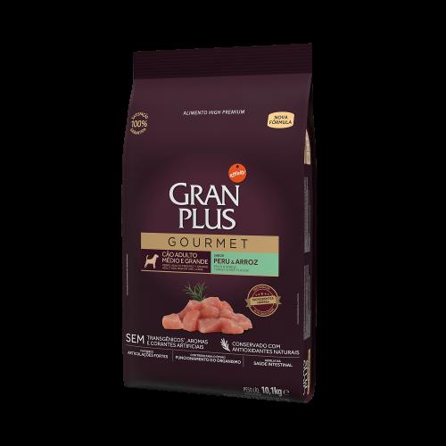 GP Gourmet Cão Adulto Médio e Grande Peru e Arroz 10,1kg LATERAL