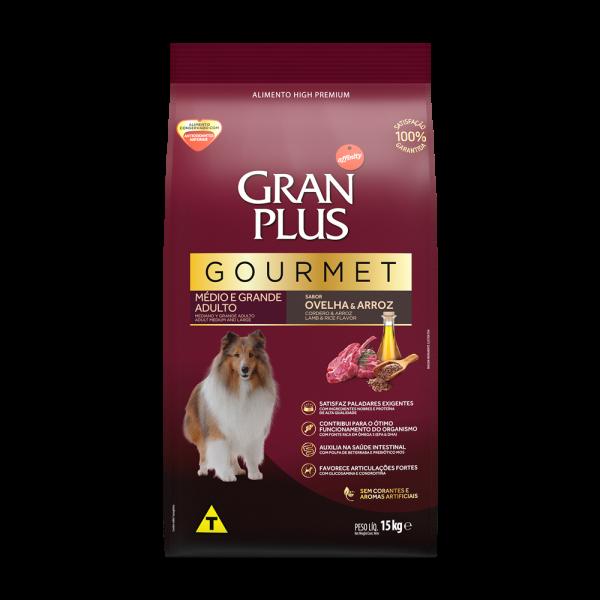 GP Gourmet Cão Adulto Médio e Grande Sabor Ovelha e Arroz 15kg FRONTAL