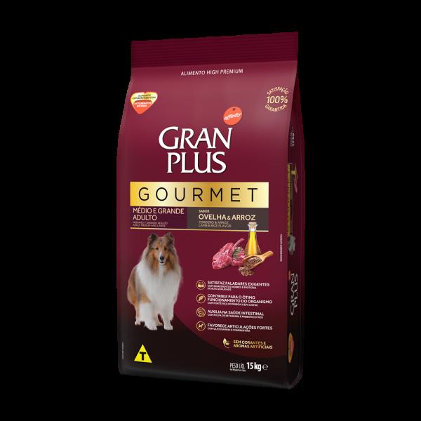 GP Gourmet Cão Adulto Médio e Grande Sabor Ovelha e Arroz 15kg LATERAL