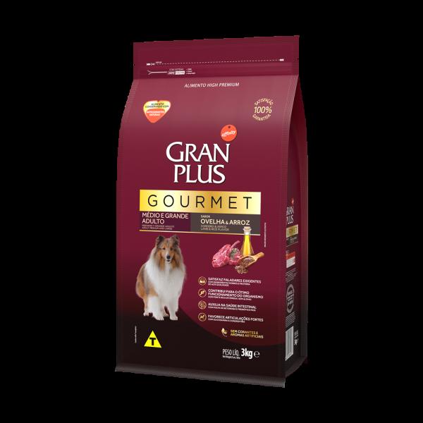 GP Gourmet Cão Adulto Médio e Grande Sabor Ovelha e Arroz 3kg LATERAL