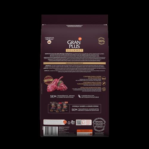 GP Gourmet Cão Adulto Mini Ovelha e Arroz 10,1kg VERSO