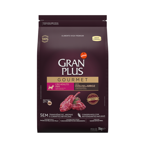 GP Gourmet Cão Adulto Mini Ovelha e Arroz 3kg FRONTAL