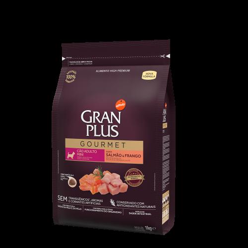 GP Gourmet Cão Adulto Mini Salmão e Frango 1kg LATERAL