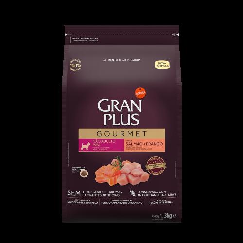 GP Gourmet Cão Adulto Mini Salmão e Frango 3kg FRONTAL