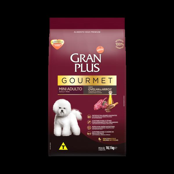 GP Gourmet Cão Adulto Mini e Pequeno Sabor Ovelha e Arroz 10,1kg FRONTAL