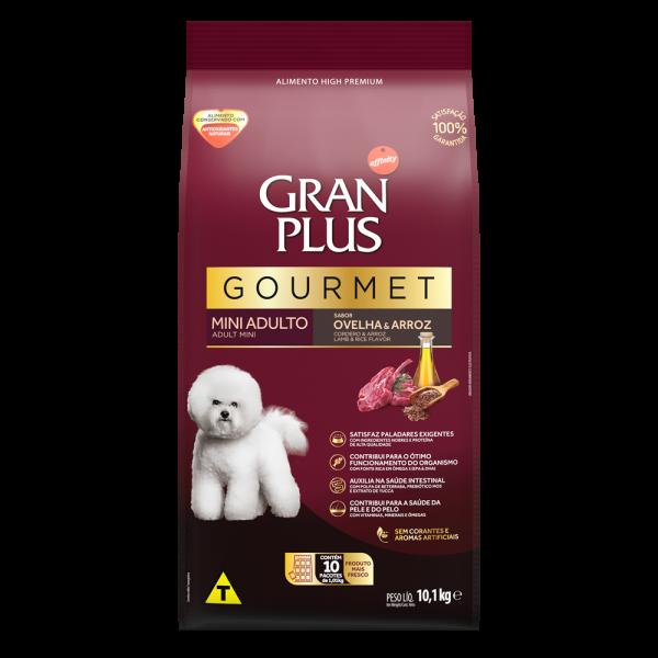 GP Gourmet Cão Adulto Mini e Pequeno Sabor Ovelha e Arroz 10x1,01kg FRONTAL