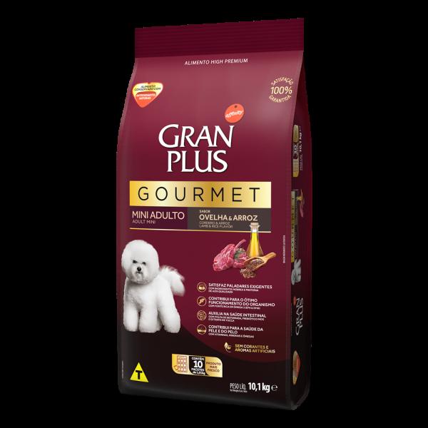 GP Gourmet Cão Adulto Mini e Pequeno Sabor Ovelha e Arroz 10x1,01kg LATERAL