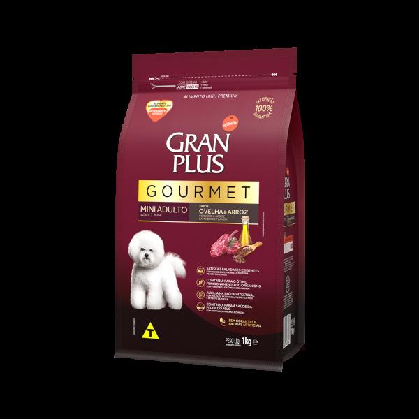 GP Gourmet Cão Adulto Mini e Pequeno Sabor Ovelha e Arroz 1kg LATERAL