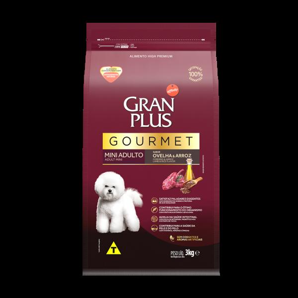 GP Gourmet Cão Adulto Mini e Pequeno Sabor Ovelha e Arroz 3kg FRONTAL