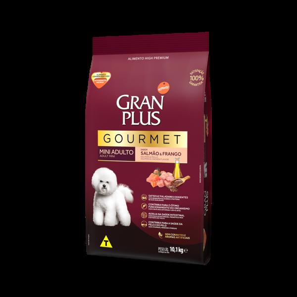 GP Gourmet Cão Adulto Mini e Pequeno Sabor Salmão e Frango 10,1kg LATERAL