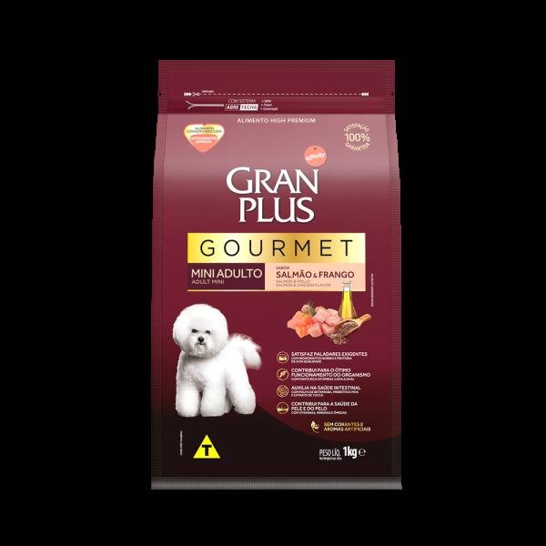 GP Gourmet Cão Adulto Mini e Pequeno Sabor Salmão e Frango 1kg FRONTAL