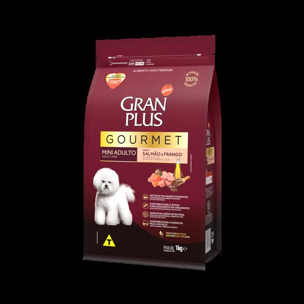 GP Gourmet Cão Adulto Mini e Pequeno Sabor Salmão e Frango 1kg LATERAL