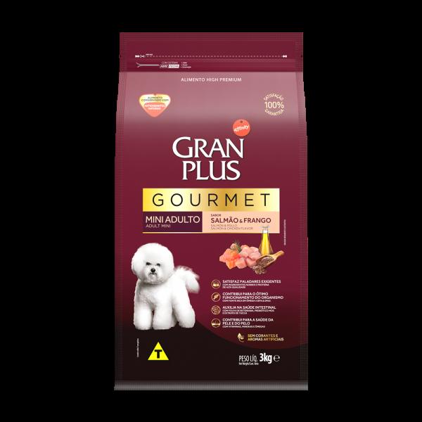 GP Gourmet Cão Adulto Mini e Pequeno Sabor Salmão e Frango 3kg FRONTAL
