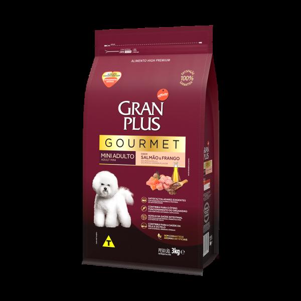 GP Gourmet Cão Adulto Mini e Pequeno Sabor Salmão e Frango 3kg LATERAL