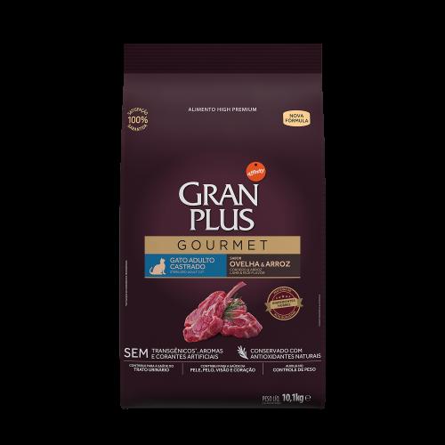 GP Gourmet Gato Adulto Castrado Ovelha e Arroz 10,1kg FRONTAL