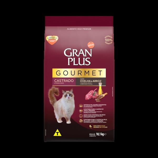 GP Gourmet Gato Adulto Castrado Sabor Ovelha e Arroz 10,1kg FRONTAL