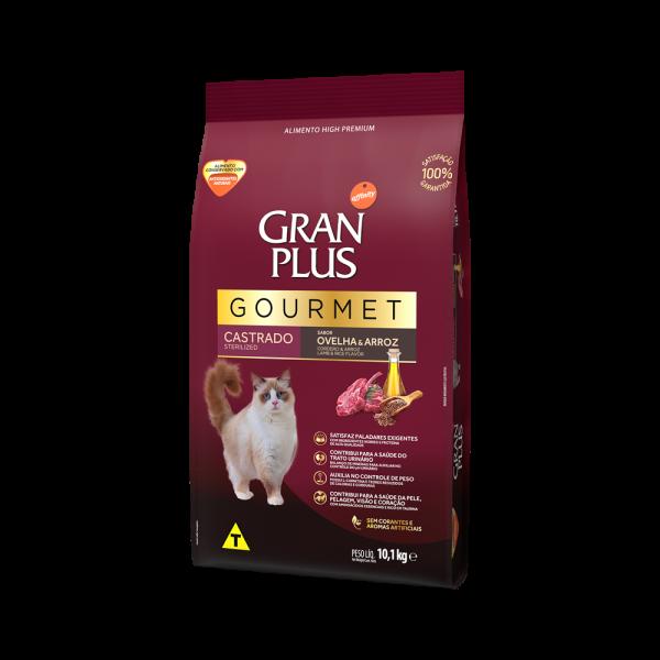 GP Gourmet Gato Adulto Castrado Sabor Ovelha e Arroz 10,1kg LATERAL