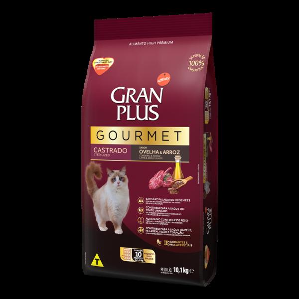 GP Gourmet Gato Adulto Castrado Sabor Ovelha e Arroz 10x1,01kg LATERAL
