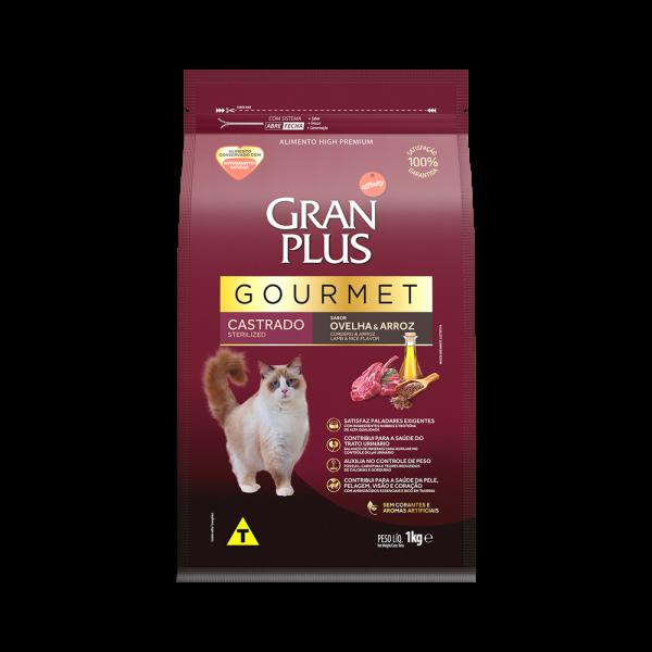 GP Gourmet Gato Adulto Castrado Sabor Ovelha e Arroz 1kg FRONTAL
