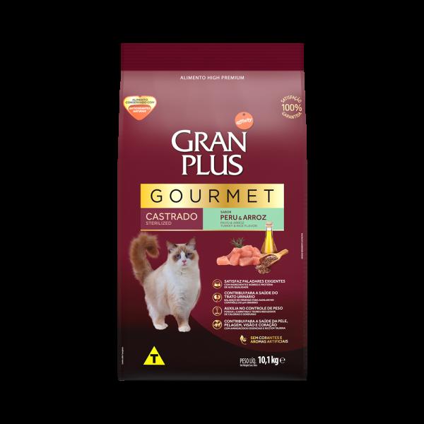 GP Gourmet Gato Adulto Castrado Sabor Peru e Arroz 10,1kg FRONTAL