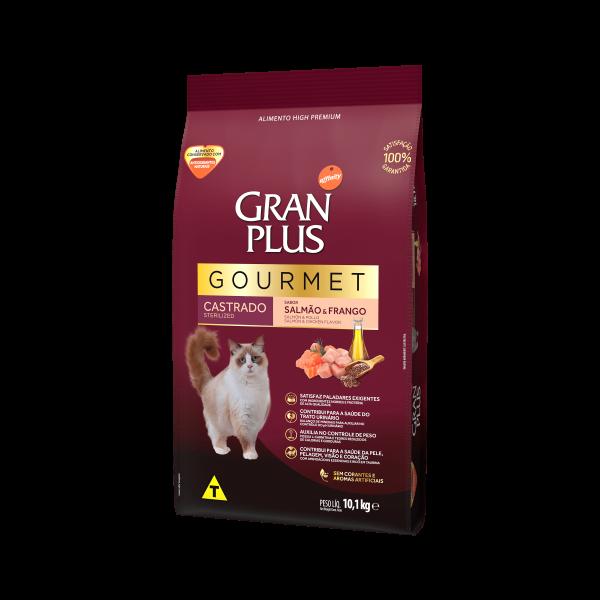 GP Gourmet Gato Adulto Castrado Sabor Salmão e Frango 10,1kg LATERAL