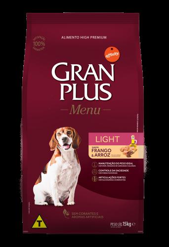 GP Menu Cão Adulto Light Sabor Frango e Arroz 15kg FRONTAL