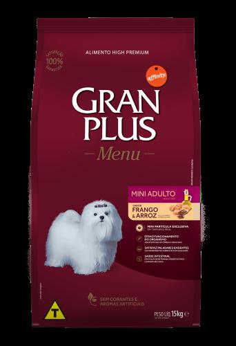 GP Menu Cão Adulto Mini e Pequeno Sabor Frango e Arroz 15kg FRONTAL
