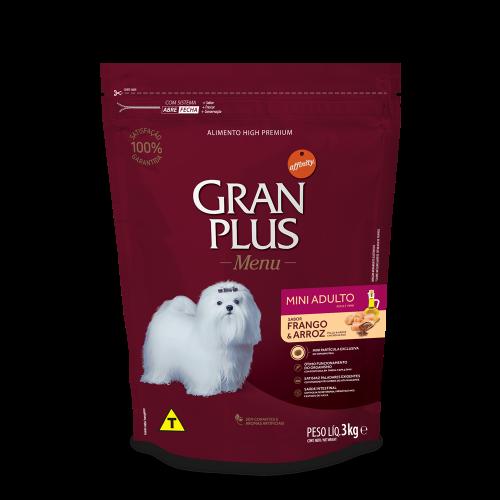 GP Menu Cão Adulto Mini e Pequeno Sabor Frango e Arroz 3kg FRONTAL