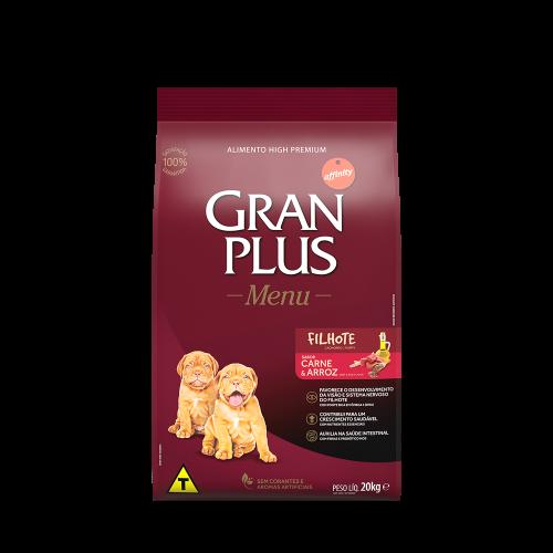 GP Menu Cão Filhote Médio e Grande Sabor Carne e Arroz 20kg FRONTAL