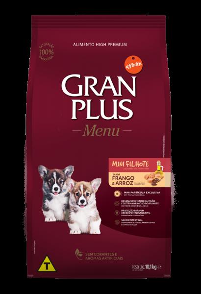 GP Menu Cão Filhote Mini e Pequeno Sabor Frango e Arroz 10,1kg FRONTAL